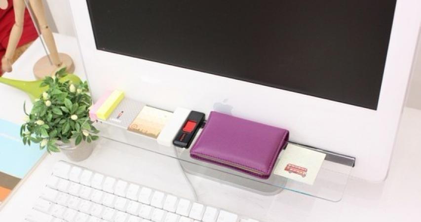 купить Полка акриловая для мониторов, ноутбуков цена, отзывы