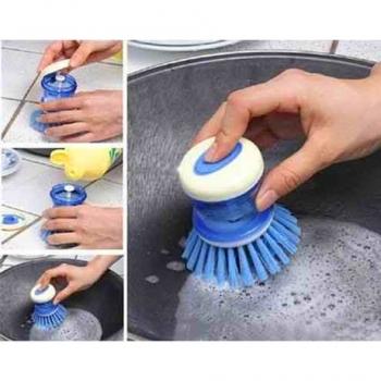 купить Щетка для мытья посуды с дозатором цена, отзывы