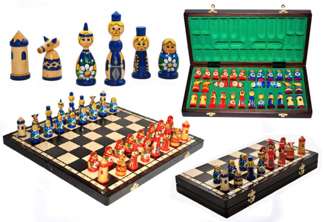 купить Шахматы МАТРЕШКИ  цена, отзывы