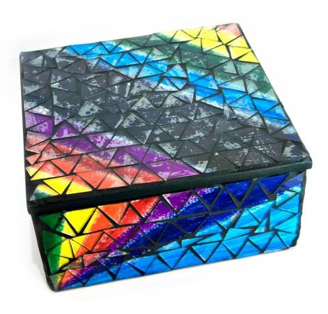 купить Шкатулка для украшений мозаичная 17Х17Х8 см цена, отзывы
