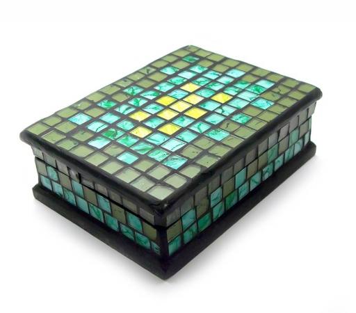 купить Шкатулка для украшений мозаичная 18Х13Х5,5 см цена, отзывы