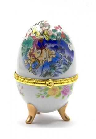 купить Шкатулка яйцо 10Х6Х6 см цена, отзывы