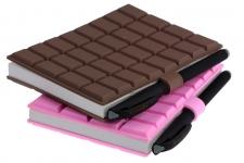 купить Шоколадка  блокнот большой с ручкой 2 цвета цена, отзывы