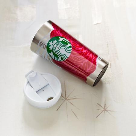 купить Стальная термокружка Starbucks Розовые цветы цена, отзывы