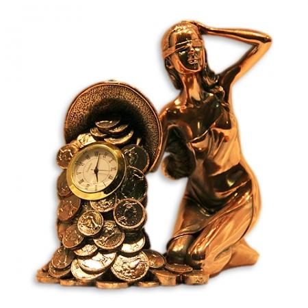 купить Статуэтка Фортуна с рогом изобилия+часы цена, отзывы