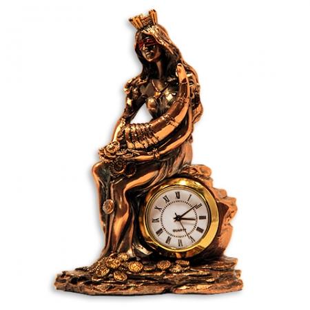 купить Статуэтка  Фортуна с рогом изобилия часы цена, отзывы