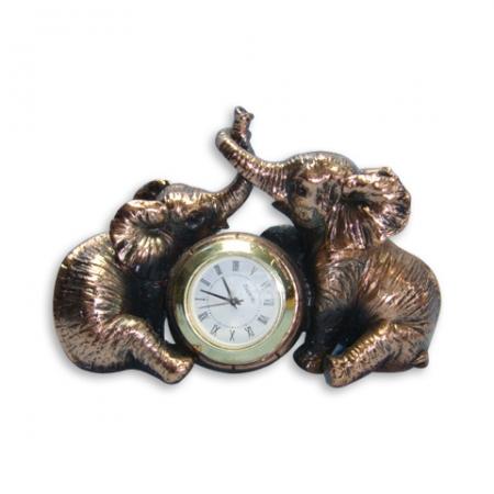 купить Статуэтка  два слона + часы цена, отзывы
