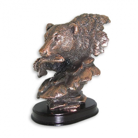 купить Статуэтка голова медведя цена, отзывы