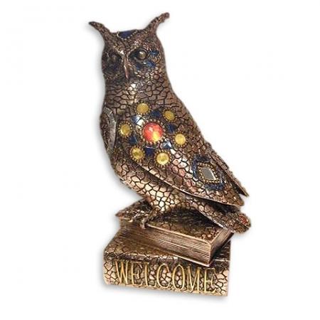 купить Статуэтка сова на книге мозаика цена, отзывы