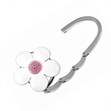 купить Сумкодержатель белый цветок цена, отзывы