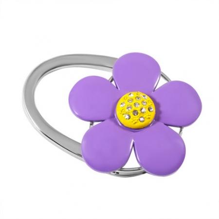 купить Сумкодержатель фиолетовый цветок цена, отзывы