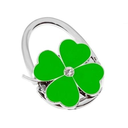 купить Сумкодержатель сумочка цветок клевера зелёный  цена, отзывы