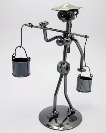 купить Техно арт девушка с коромыслом металл 20,5Х12,5Х8,5 см цена, отзывы