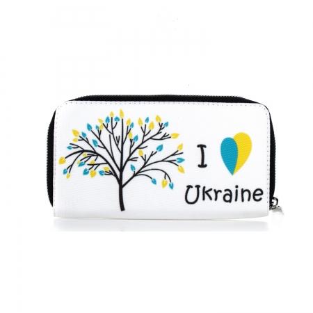 купить Тканевый кошелек I love Ukraine цена, отзывы
