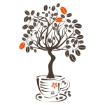 купить Виниловая Наклейка Coffee Tree цена, отзывы