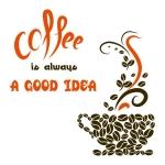 купить Виниловый Стикер Coffee a  Good Idea цена, отзывы