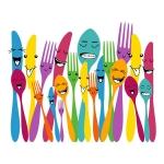 купить Виниловый Стикер Spoon and Forks цена, отзывы
