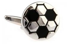 купить Запонки Футбольный мяч white цена, отзывы