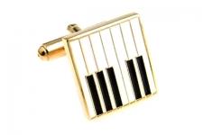купить Запонки Клавиши рояля gold цена, отзывы