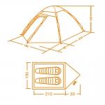 фото 7209  Туристическая двухместная палатка для ленивых цена, отзывы