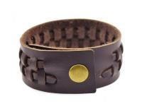 фото 9390  Антический кожаный браслет Archer цена, отзывы