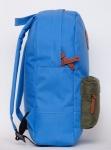 фото 8076  Рюкзак GiN Bronx голубой с карманом хаки цена, отзывы