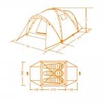 фото 7213  Палатка туристическая 3-х местная цена, отзывы