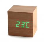 фото 8122  Часы будильник дерево wood clock green цена, отзывы