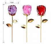 фото 4938  Crystle Rose: Роза высокая из стекла Сваровски цена, отзывы