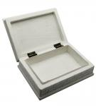 фото 4722  Шкатулка для украшений с мозаикой белая 18,5Х13,5 Х 6 см цена, отзывы