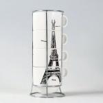 фото 9351  Набор чашек Париж 26 см цена, отзывы