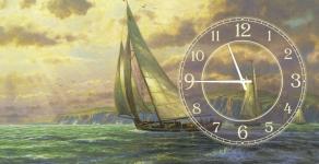 купить Часы на холсте Лондон 25х25 цена, отзывы