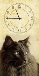 купить Часы на холсте Кошка 25х50 цена, отзывы