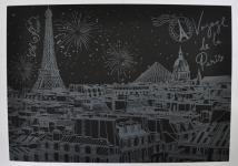 фото 9814  Скретч картина Париж ночью цена, отзывы