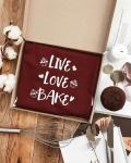фото 26065  Фартук Live. Love. Bake (Бордо) цена, отзывы