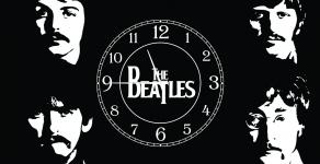 купить Часы на холсте The Beatles 25х50 цена, отзывы