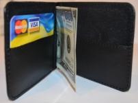 фото 1571  Зажим для денег с кармашеком для мелочи натуральная кожа №4 цена, отзывы