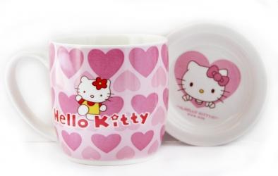 купить Чашка Hello Kitty с блюдцем цена, отзывы