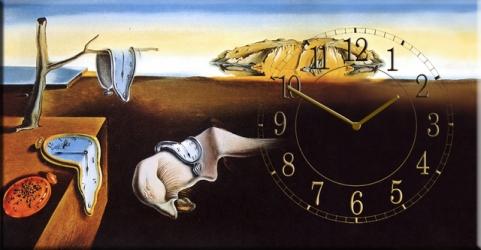 купить Часы на холсте Постоянство памяти (Сальвадор Дали) 25х50 цена, отзывы