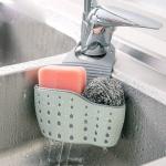 фото 25328  Подвесная корзинка для кухонных губок серая (оливковая) цена, отзывы