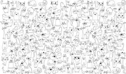 купить Обои раскраска - Веселые котята 1.0х0.6м цена, отзывы