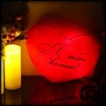 фото 7144  Светящаяся Подушка Сердце Я тебе кохаю цена, отзывы