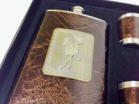 фото 3011  Фляга в подарочной упаковке с лошадью цена, отзывы