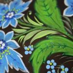 фото 8942  Кто-то Он с росписью синие цветы цена, отзывы