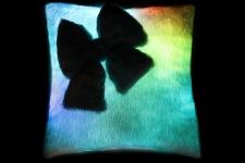 фото 7149  Светящаяся подушка Гламур с бантиком цена, отзывы