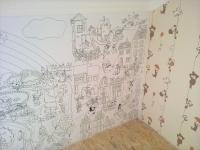фото 805  Обои раскраска - Сказочный город №2 2.0х0.6м цена, отзывы