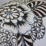 фото 8929  Кот Мартовский с росписью цветы синие цена, отзывы