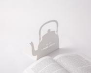фото 9879  Держатель для книг Чайник белый цена, отзывы