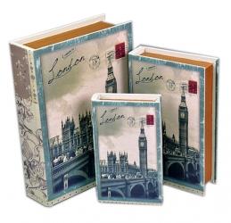 купить Книга-шкатулка London 3шт цена, отзывы