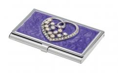 фото 10400  Подарочный набор ручка и визитница Минта фиолетовый цена, отзывы